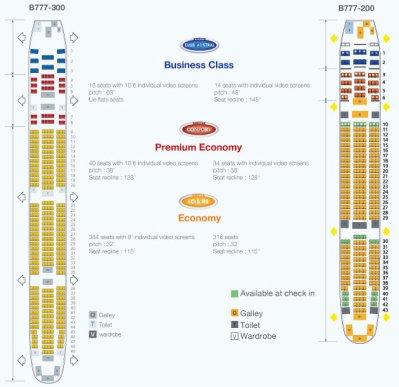 Difference cabine entre b777 200 et b777 300 air austral for Plans de cabine gratuits