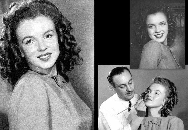 Norma jeane aux alentours de 1944 on la voit ici avec for Extreme motors monroe la
