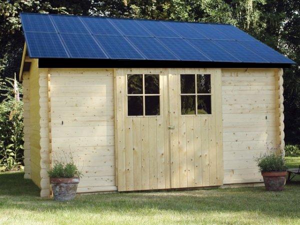 abri jardin avec panneau solaire photovoltaique espace c. Black Bedroom Furniture Sets. Home Design Ideas