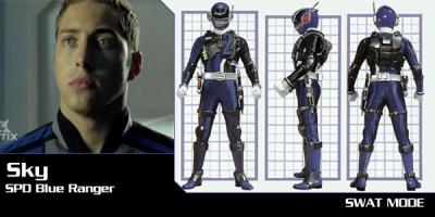 le power ranger s.p.d bleu - Power Ranger