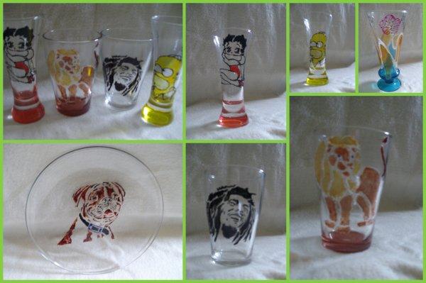 Blog de latelier de sophie page 2 blog de latelier de - Peindre sur verre 100 modeles originaux ...