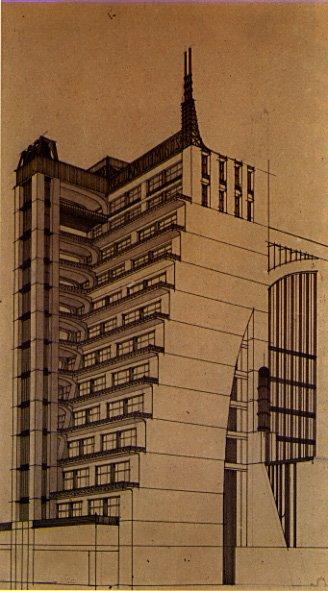 Architecture futuriste la d fense des damiers for Architecture futuriste