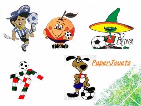 Football les mascottes des coupes du monde 1978 1994 paperjouets - Coupe du monde football 1994 ...