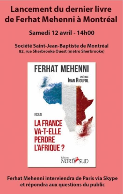 Montréal / Lancement par les éditions Dialogue Nord-Sud du dernier livre de Ferhat Méhenni