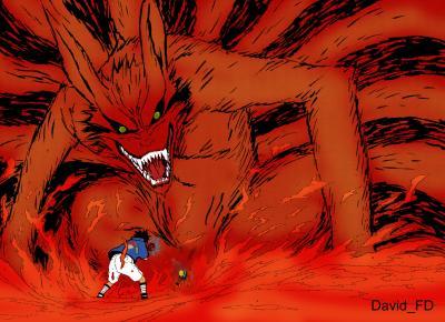 Renard a neuf queues naruto - Naruto renard ...