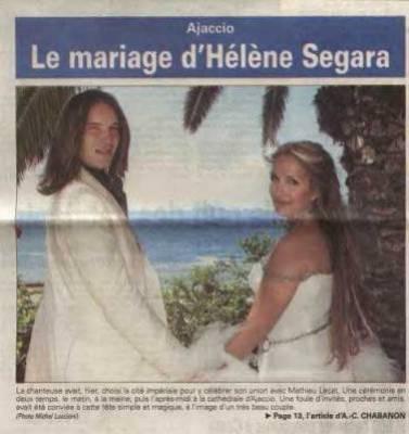 Le mariage d 39 h l ne s gara pleins de photos sur la chanteuse h l ne s gara - Helene darroze et son mari ...