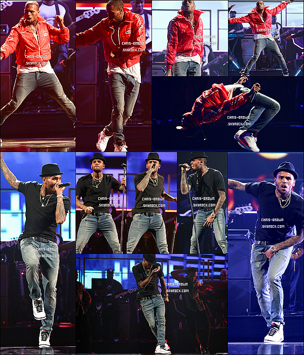 . 20/09/13 : Chris Brown a donn� une interview puis chanter au iHeartRadio Music Festival � Las Vegas. .