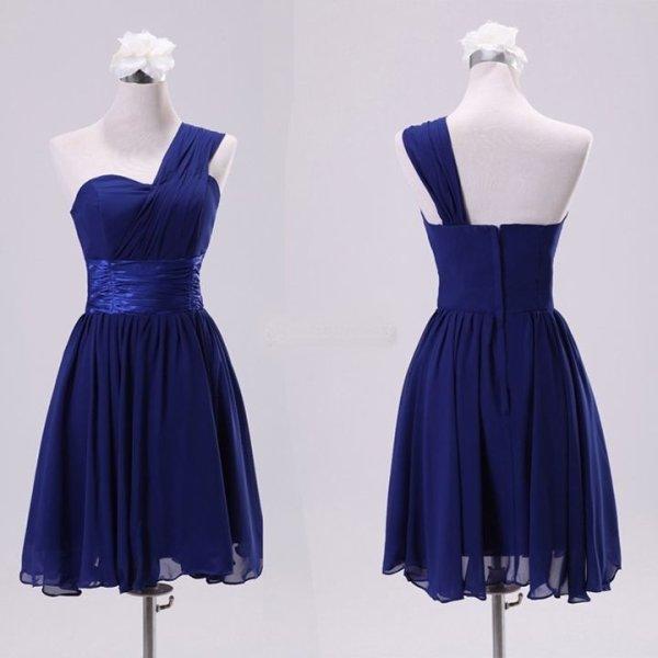 Robe de soir e demoiselle d 39 honneur courte bleu nuit location de robes de mari es robes - Robe bleu demoiselle d honneur ...