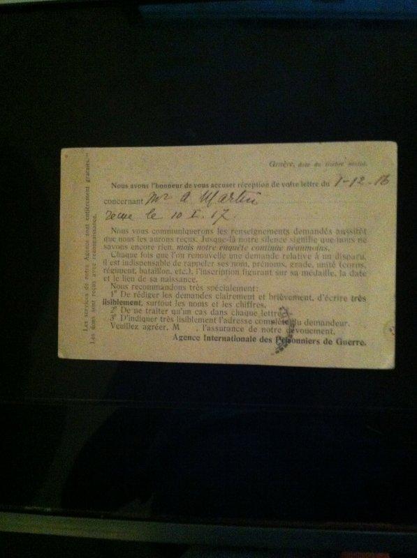 Le CICR, 1914-18: l'Agence internationale des prisonniers de guerre