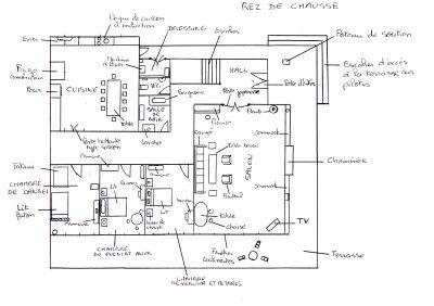 P 39 tit croquis de la maison du ranch positium for Conception de croquis de plan de maison