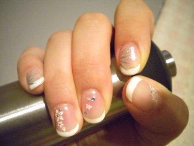 French blanche sur vrais ongles blog de soft manucure - Ongle gel french blanche ...