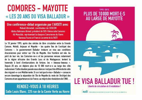 COMORES – Mayotte «LES VINGT ANS DU VISA BALLADUR»