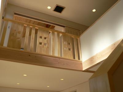 vue depuis le vide sur salon construction d 39 une maison bioclimatique et. Black Bedroom Furniture Sets. Home Design Ideas