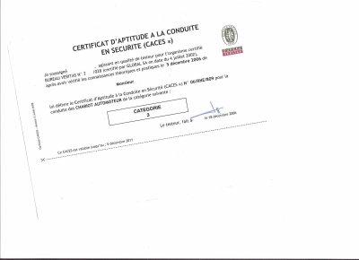 caces certificat d 39 aptitude la conduite en securit blog de 57loulou. Black Bedroom Furniture Sets. Home Design Ideas