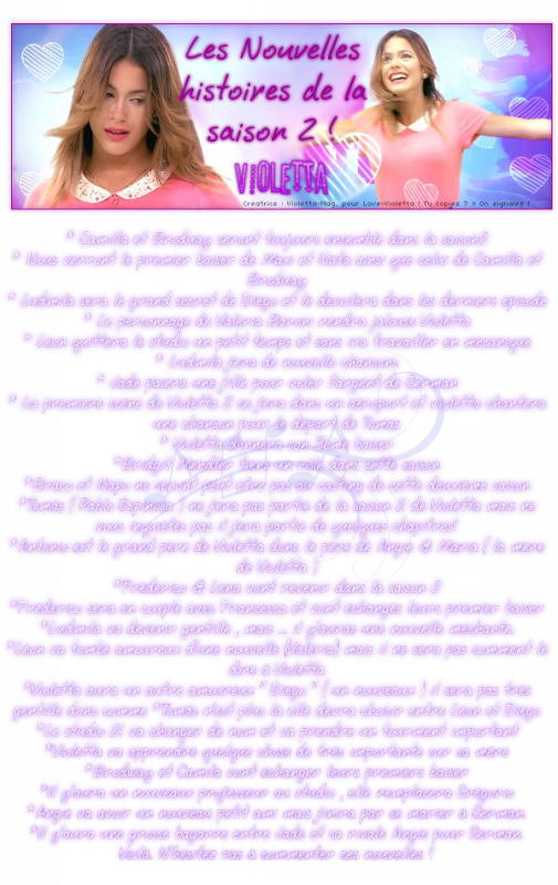 Article fait par violetta-Mag merci