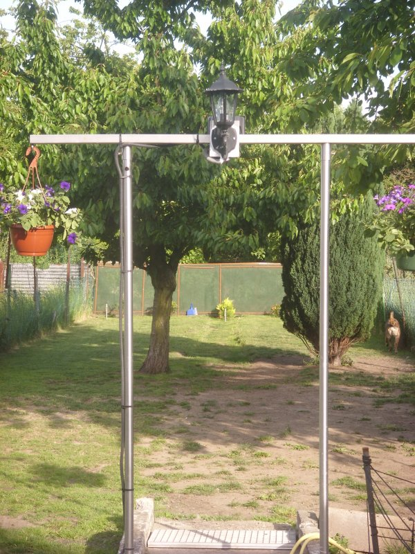 arche de jardin en inox pour suspension davidinoxcreation. Black Bedroom Furniture Sets. Home Design Ideas