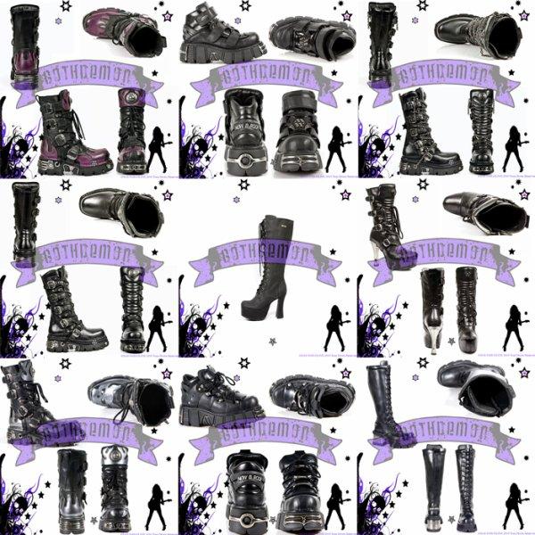 Chaussures et bottes gothique new rock disponible sur gothdemon - Accessoires gothiques ...