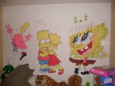 Dessin dans la chambre d 39 un enfant blog de decorateurmural - Comment dessiner sur un mur de chambre ...