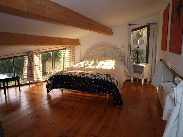 La chambre mezzanine du gite maison de sommi res for Chambre mezzanine