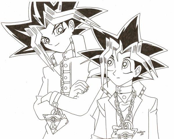comment dessiner yugi