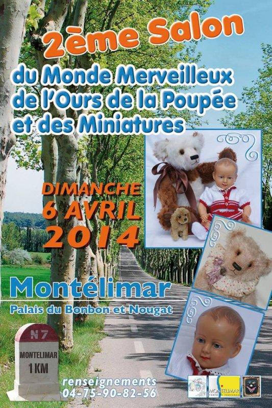 Salon du Monde de l'Ours et de la Poupée dimanche 6 avril  Montelimar 26