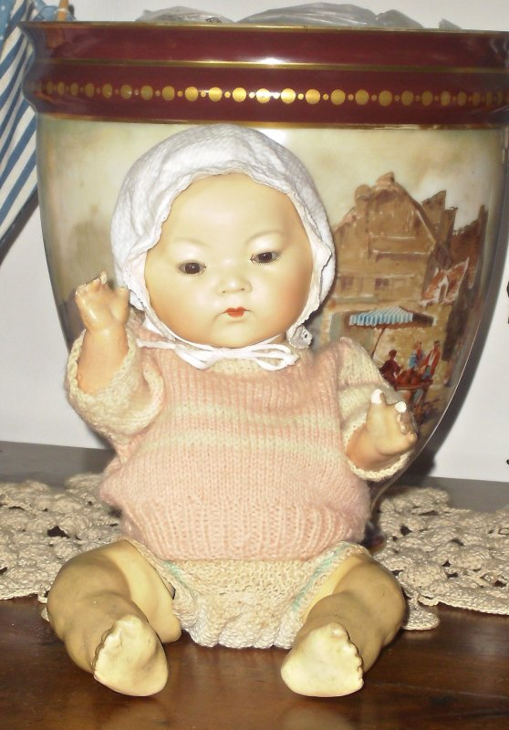 Rare Bébé ancien Armand Marseille - Germany 353/3K de type asiatique