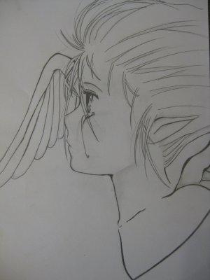 dessin ange qui pleure