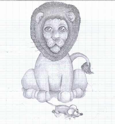Le lion et le rat mes dessins - Dessin le lion et le rat ...