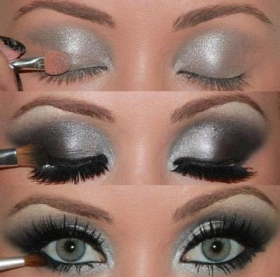 Maquillage yeux gris tuto blog speciale beaute - Maquillage yeux marrons tuto ...