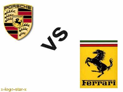 The Gallery For Gt Porsche Symbol Vs Ferrari Symbol