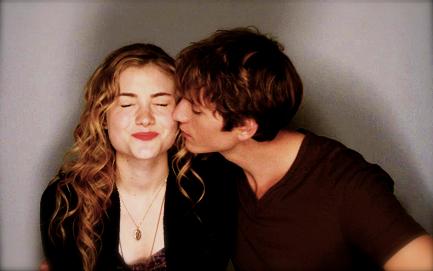 Skyler samuels and benjamin stone kiss