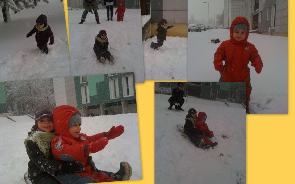 Une apr�s-midi de neige.....