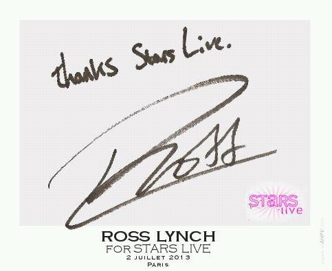 Dedicace de Ross pour le magasine Stars Live