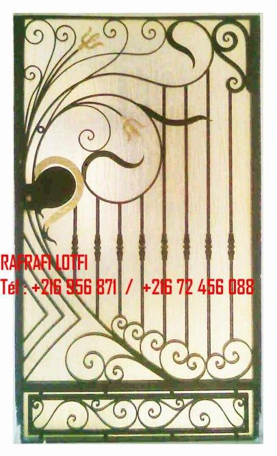 Portail fer forg 21 harmonie de fer forg tunisien for Portail fer forge tunisie