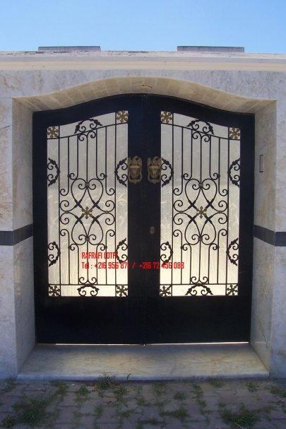 Portail fer forg 81 harmonie de fer forg tunisien for Portail fer forge tunisie