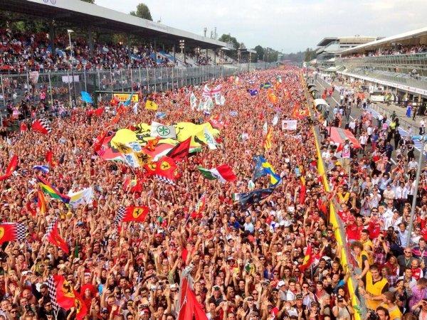 Les tifosis � Monza de la folie.