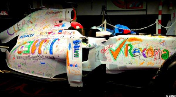 La tr�s belle id�e de Lotus F1 pour des enfants malades