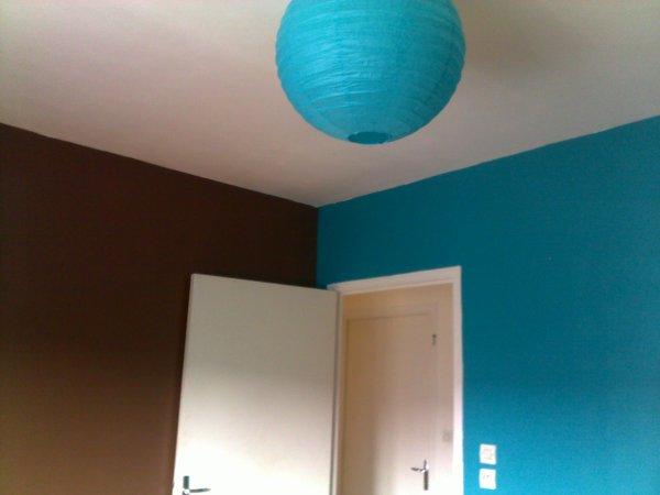 Chambre Bleu Turquoise Et Taupe. Dco Chambre Taupe Peinture Mur ...