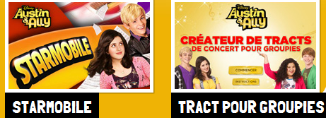 Austin et Ally le site disney channel