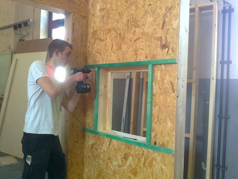 Module Ossature Bois - Module ossature bois avec pose d'une porte intérieure et ch u00e2ssis avec finition intérieure(2