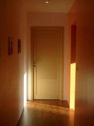 Et voil la premi re porte int rieure pos e avec finition maison bois d - Enlever une porte interieure ...