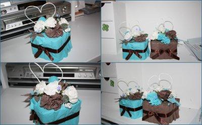 centre de table turquoise chocolat les cr ations de joeyvan. Black Bedroom Furniture Sets. Home Design Ideas