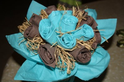 Table Turquoise / Chocolat
