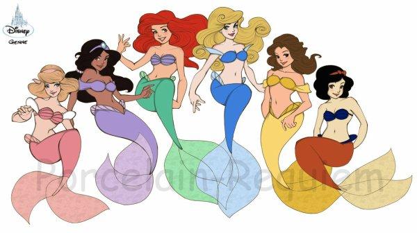 Toute les princesse disney en sirene lol blog de sorciere v s sirene - Toutes les princesse disney ...