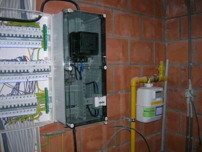 Alarme coffret de dispersion electrique plus compteur gaz construction de - Installation compteur gaz ...