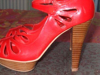 Mes chaussures talons vendre rouge corail la - La redoute reduction prix rouge ...