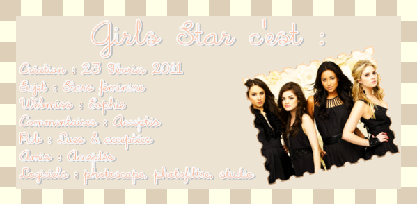 BIENVENUE SUR GIRLS STAR