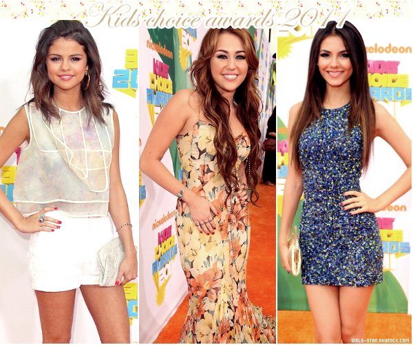 Kids choice awards 2011 - Zoom sur Selena, Miley, Victoria, Ariana, Jenyfer & Bella