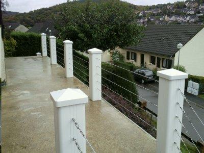 construction de terrasse et fabrication unique de balustrade pvc cable inox entreprise dalmeida. Black Bedroom Furniture Sets. Home Design Ideas