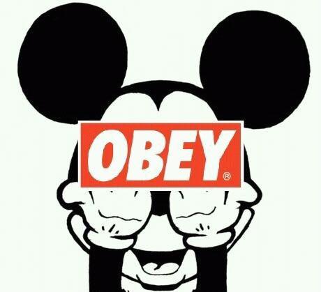 Mickey   Swag       ObeyObey Logo Wallpaper Swag
